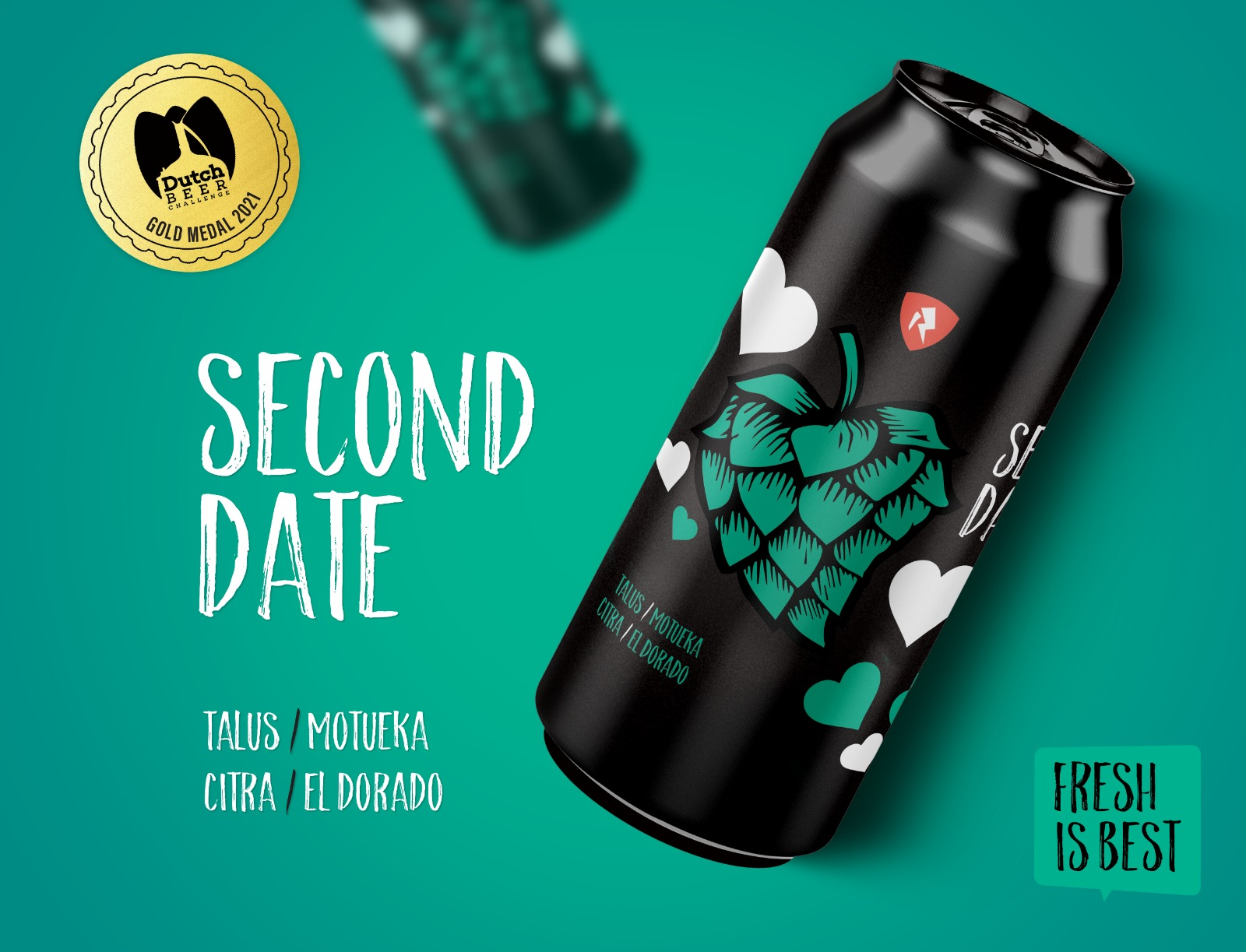 Rock City Brewing Second Date Turquoise